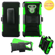 Advanced Armor Hybrid Kickstand Case with Holster for LG G6 - Black Green