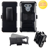 *Sale* Advanced Armor Hybrid Kickstand Case with Holster for LG G6 - Black Grey