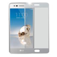 Premium 2.5D Round Edge Tempered Glass Screen Protector for LG Aristo / Fortune / K8 (2017) / Phoenix 3 - Silver
