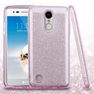 Full Glitter Hybrid Protective Case for LG Aristo / Fortune / K8 2017 / Phoenix 3 - Pink