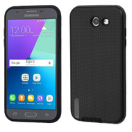 Silk Lines Hybrid Case for Samsung Galaxy J3 (2017) / J3 Emerge / J3 Prime / Amp Prime 2 / Sol 2 - Black