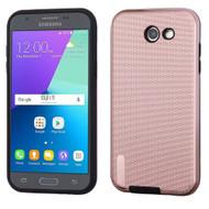 Silk Lines Multi-Layer Hybrid Case for Samsung Galaxy J3 (2017) / J3 Emerge / J3 Prime / Amp Prime 2 / Sol 2 - Rose Gold