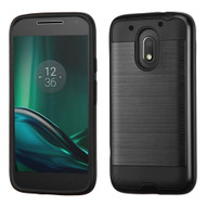 Brushed Hybrid Armor Case for Motorola Moto E3 / G4 Play / G Play - Black