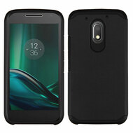 Hybrid Multi-Layer Armor Case for Motorola Moto E3 / G4 Play / G Play - Black
