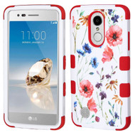 Military Grade TUFF Image Hybrid Armor Case for LG Aristo / Fortune / K8 2017 / Phoenix 3 - Watercolor Flowers
