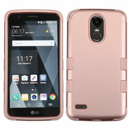 Military Grade Certified TUFF Hybrid Armor Case for LG Stylo 3 / Stylo 3 Plus - Rose Gold