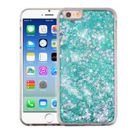 Quicksand Glitter Transparent Case for iPhone 6 / 6S - Teal Green