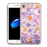 *Sale* Quicksand Glitter Transparent Case for iPhone 8 / 7 - Lollipop