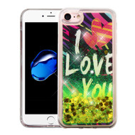 *Sale* Quicksand Glitter Transparent Case for iPhone 8 / 7 - I Love You