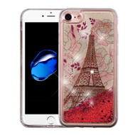 Quicksand Glitter Transparent Case for iPhone 8 / 7 - Eiffel Tower