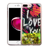 *Sale* Quicksand Glitter Transparent Case for iPhone 8 Plus / 7 Plus - I Love You