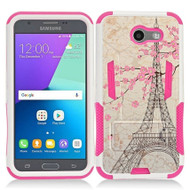 Transformer Hybrid Armor Case for Samsung Galaxy J3 (2017) / J3 Emerge / J3 Prime / Amp Prime 2 / Sol 2 - Eiffel Tower