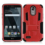 *SALE* Transformer Hybrid Armor Case with Stand for LG Stylo 3 / Stylo 3 Plus - Red