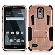 *Sale* Transformer Hybrid Armor Case with Stand for LG Stylo 3 / Stylo 3 Plus - Rose Gold