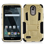 *SALE* Transformer Hybrid Armor Case with Stand for LG Stylo 3 / Stylo 3 Plus - Gold