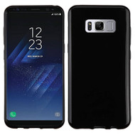 Rubberized Crystal Case for Samsung Galaxy S8 - Jet Black