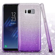 Full Glitter Hybrid Protective Case for Samsung Galaxy S8 - Gradient Purple