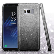 Full Glitter Hybrid Protective Case for Samsung Galaxy S8 - Gradient Black