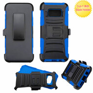 *Sale* Advanced Armor Hybrid Kickstand Case with Holster for Samsung Galaxy S8 - Black Blue