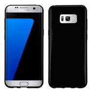 Rubberized Crystal Case for Samsung Galaxy S8 Plus - Jet Black