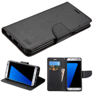 Diary Leather Wallet Case for Samsung Galaxy S8 Plus - Black