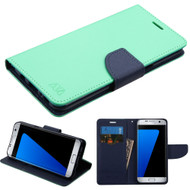 Diary Leather Wallet Case for Samsung Galaxy S8 Plus - Teal Green