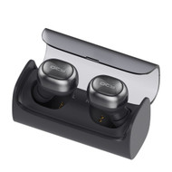 Dual TWS Mini Invisible Bluetooth V4.1 Wireless Noise Canceling Stereo Earbuds Headsets with Charging Case - Dark Grey