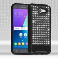 Luxury Bling Diamond Hybrid Case for Samsung Galaxy J3 Emerge - Black