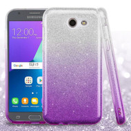 Full Glitter Hybrid Case for Samsung Galaxy J3 (2017) / J3 Emerge / J3 Prime / Amp Prime 2 / Sol 2 - Gradient Purple