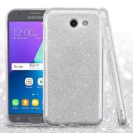 Full Glitter Hybrid Protective Case for Samsung Galaxy J3 Emerge - Silver