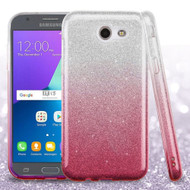 Full Glitter Hybrid Protective Case for Samsung Galaxy J3 Emerge - Gradient Pink