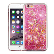 Quicksand Glitter Transparent Case for iPhone 6 Plus / 6S Plus - Pink