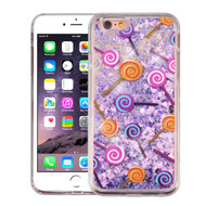 Quicksand Glitter Transparent Case for iPhone 6 Plus / 6S Plus - Lollipop