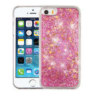 Quicksand Glitter Transparent Case for iPhone SE / 5S / 5 - Pink