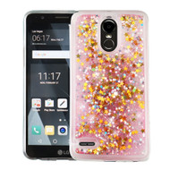 Quicksand Glitter Transparent Case for LG Stylo 3 / Stylo 3 Plus - Pink