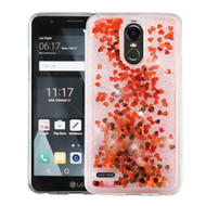 Quicksand Glitter Transparent Case for LG Stylo 3 / Stylo 3 Plus - Red