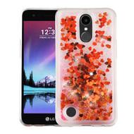 Quicksand Glitter Transparent Case for LG K20 Plus / K20 V / K10 (2017) / Harmony - Red