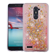 Quicksand Glitter Transparent Case for ZTE Zmax Pro - Pink