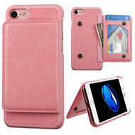 Pocket Wallet Case with Stand for iPhone 8 / 7 - Pink