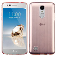 Rubberized Crystal Case for LG Aristo / Fortune / K8 2017 / Phoenix 3 - Rose Gold