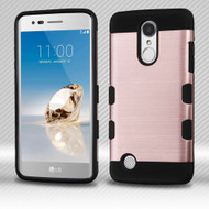 *SALE* Military Grade Certified TUFF Trooper Hybrid Armor Case for LG Aristo / Fortune / K8 2017 / Phoenix 3 - Rose Gold