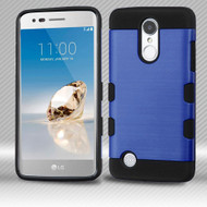 Military Grade Certified TUFF Trooper Hybrid Armor Case for LG Aristo / Fortune / K8 2017 / Phoenix 3 - Blue
