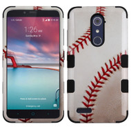 Military Grade Certified TUFF Hybrid Armor Case for ZTE Zmax Pro / Grand X Max 2 / Imperial Max / Max Duo 4G - Baseball