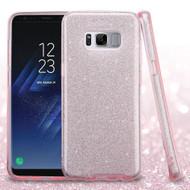 Full Glitter Hybrid Protective Case for Samsung Galaxy S8 - Pink