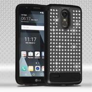 Luxury Bling Diamond Hybrid Case for LG Stylo 3 - Black