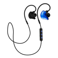 Secure Fit In-Ear Bluetooth V4.1 Wireless Sports Headphones with Microphone - Blue
