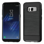 Brushed Hybrid Armor Case for Samsung Galaxy S8 - Black