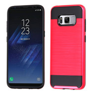 *Sale* Brushed Hybrid Armor Case for Samsung Galaxy S8 - Red