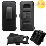 Advanced Armor Hybrid Kickstand Case with Holster for Samsung Galaxy S8 Plus - Black