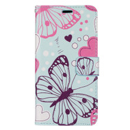 Designer Graphic Leather Wallet Stand Case for Samsung Galaxy S8 Plus - Butterfly